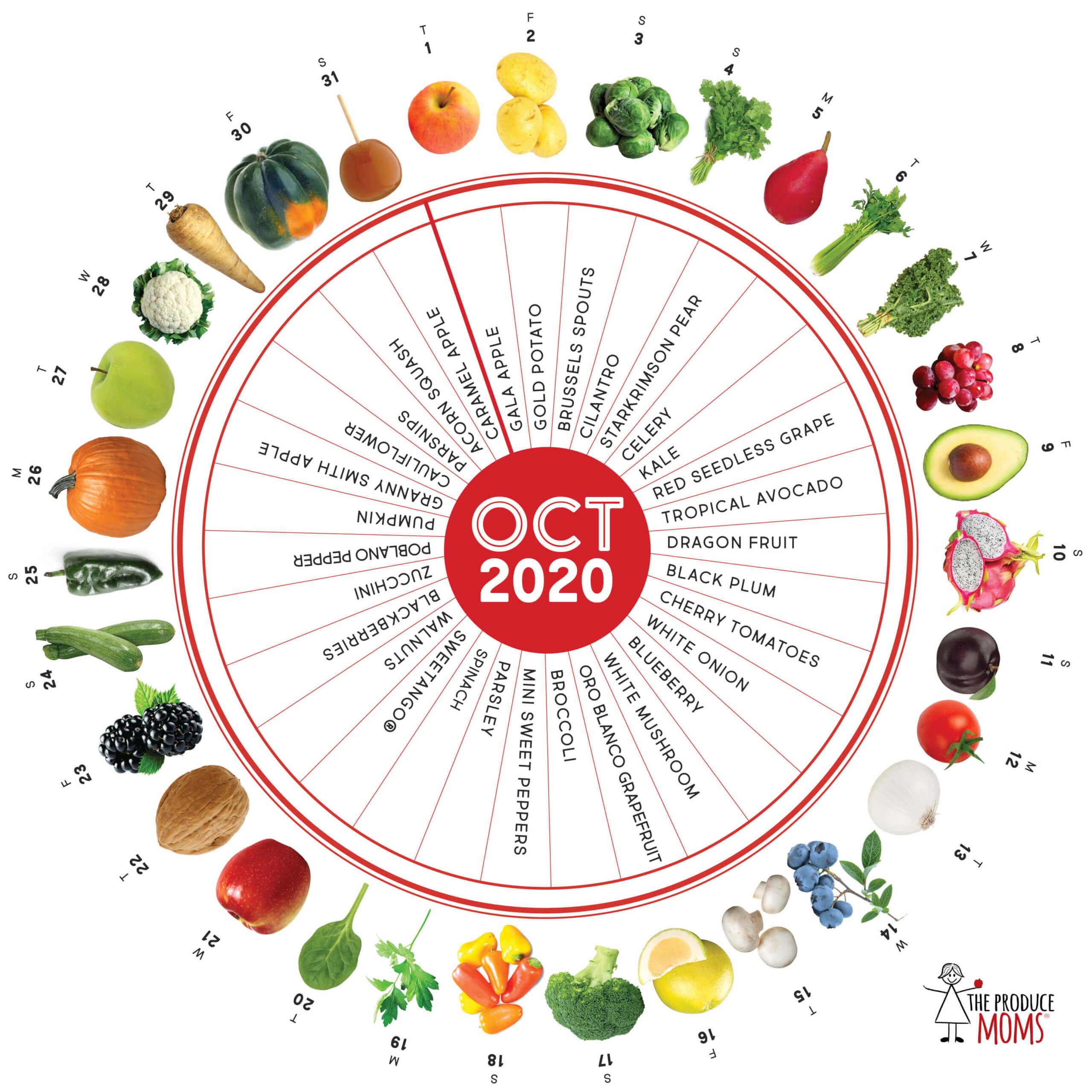 October 2020 Produce Challenge Calendar