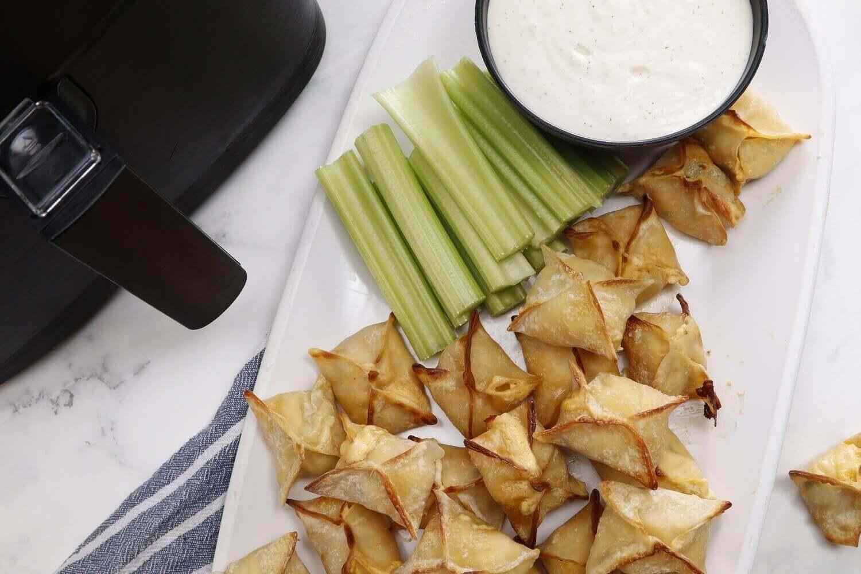 Air Fryer Buffalo Dandy® Celery & Chicken Wontons
