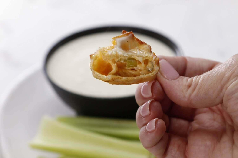 Bite into Air Fryer Buffalo Dandy® Celery & Chicken Wontons!