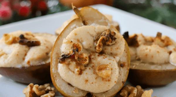Baked Cinnamon Ricotta Pears