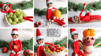 Easy Elf on the Shelf Ideas Using Fruits &and Veggies