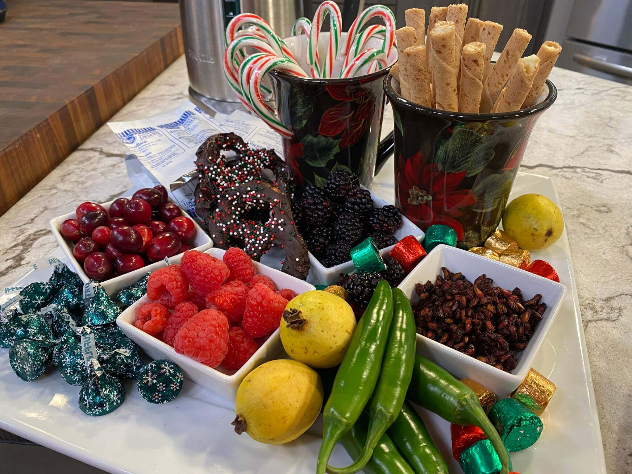 Festive Holiday Snack Board: A Fun-Filled Hot Chocolate Tray