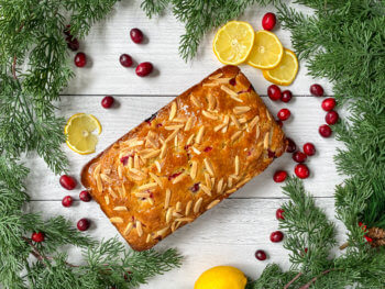 Lemon Cranberry Bread with Almonds