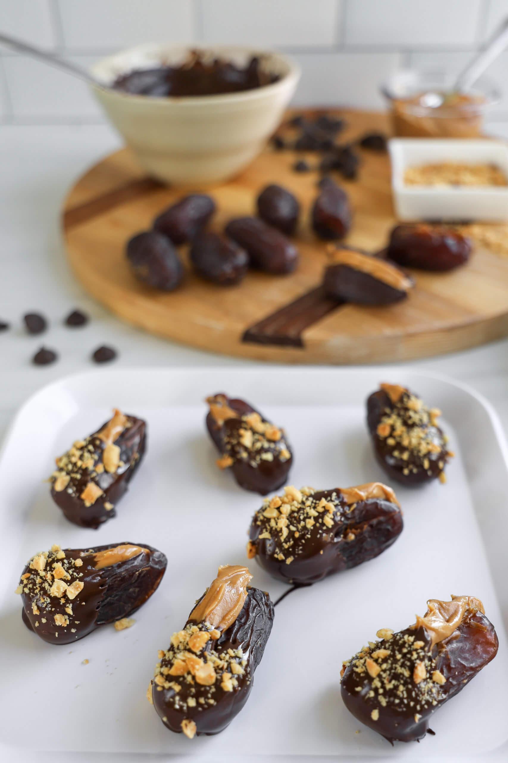 Making Chocolate-Dipped Peanut Butter Stuffed Dates