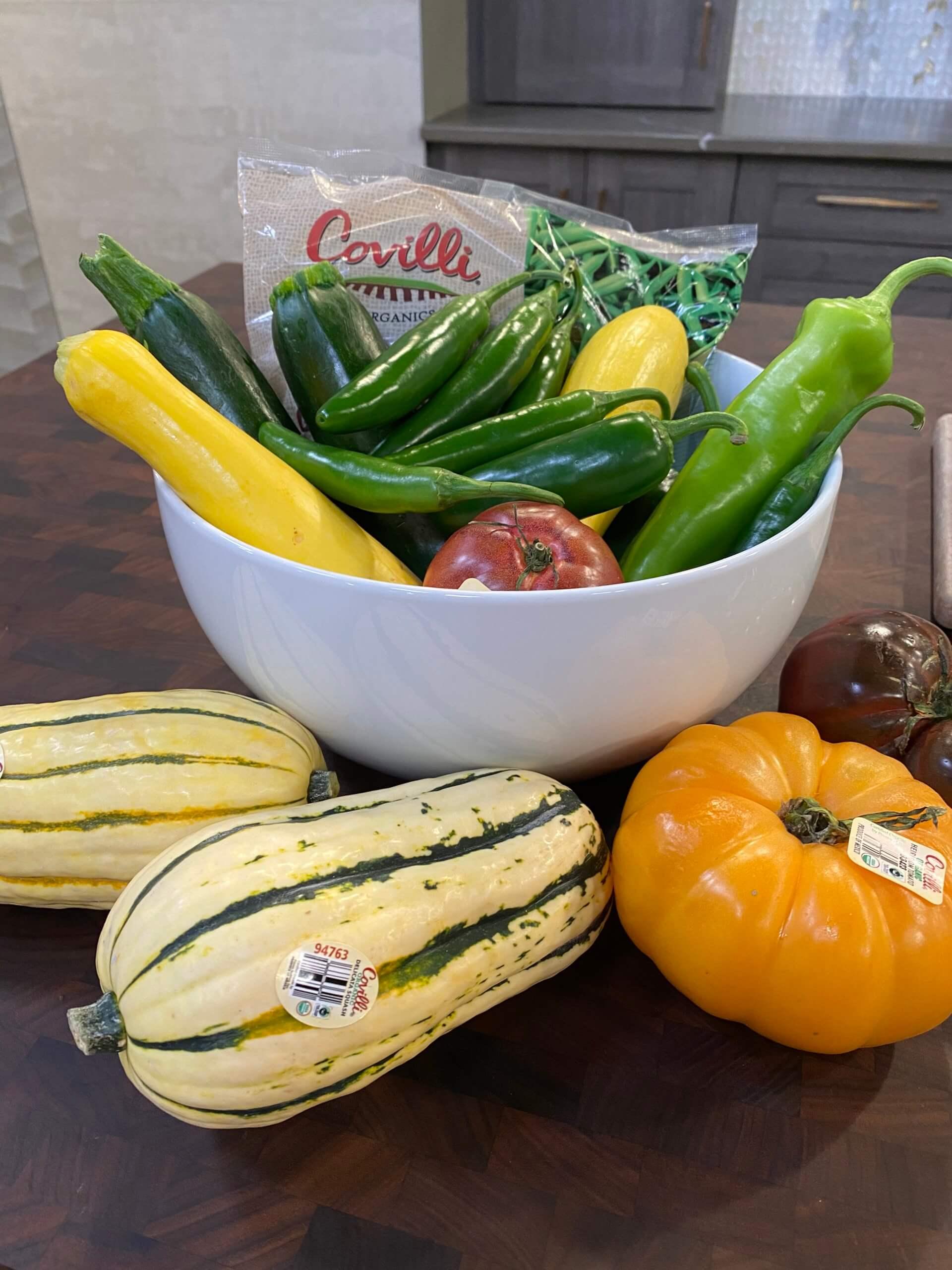 Covilli Produce with Delicata Squash
