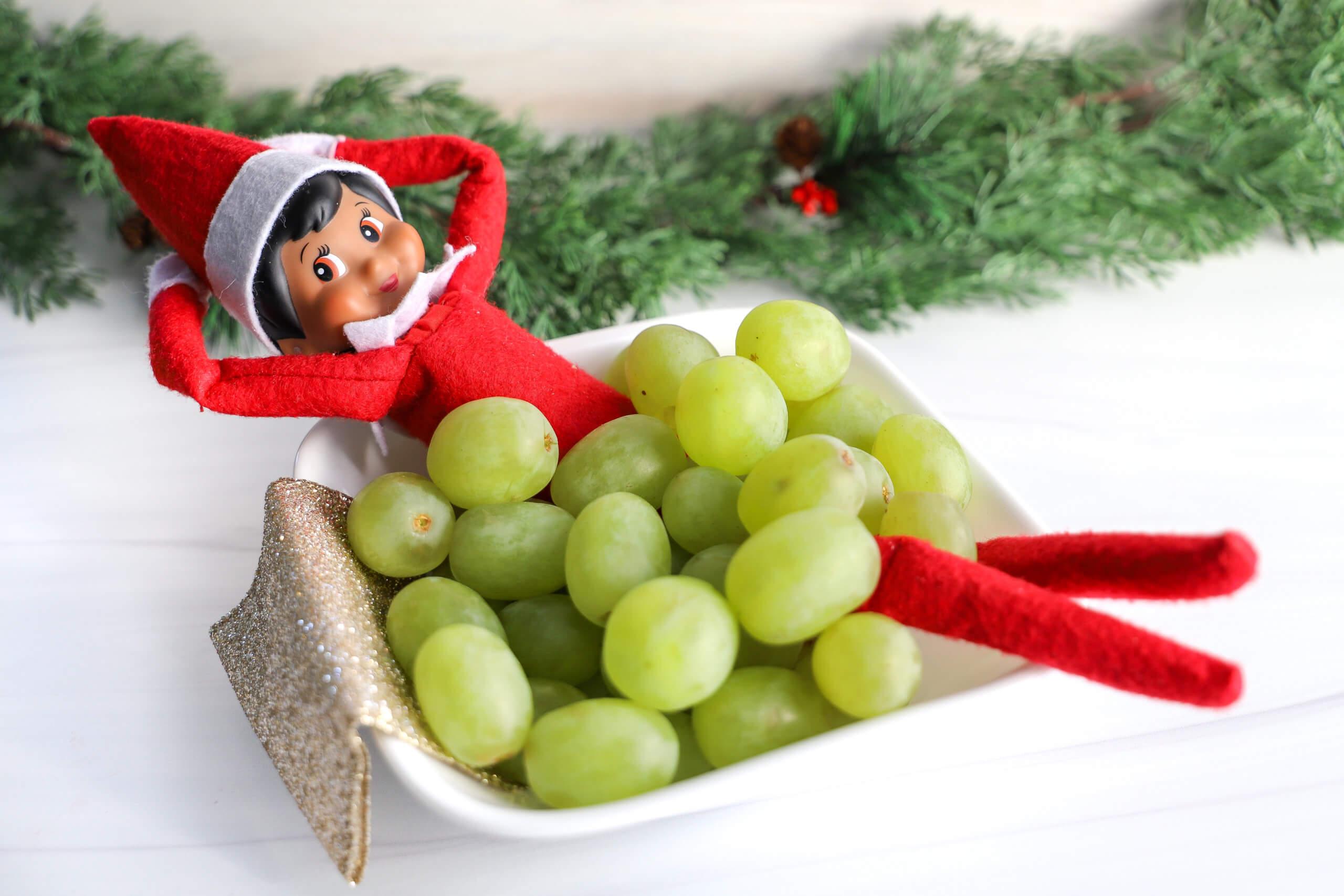 Easy Elf on the Shelf Ideas: Grape Bubble Bath