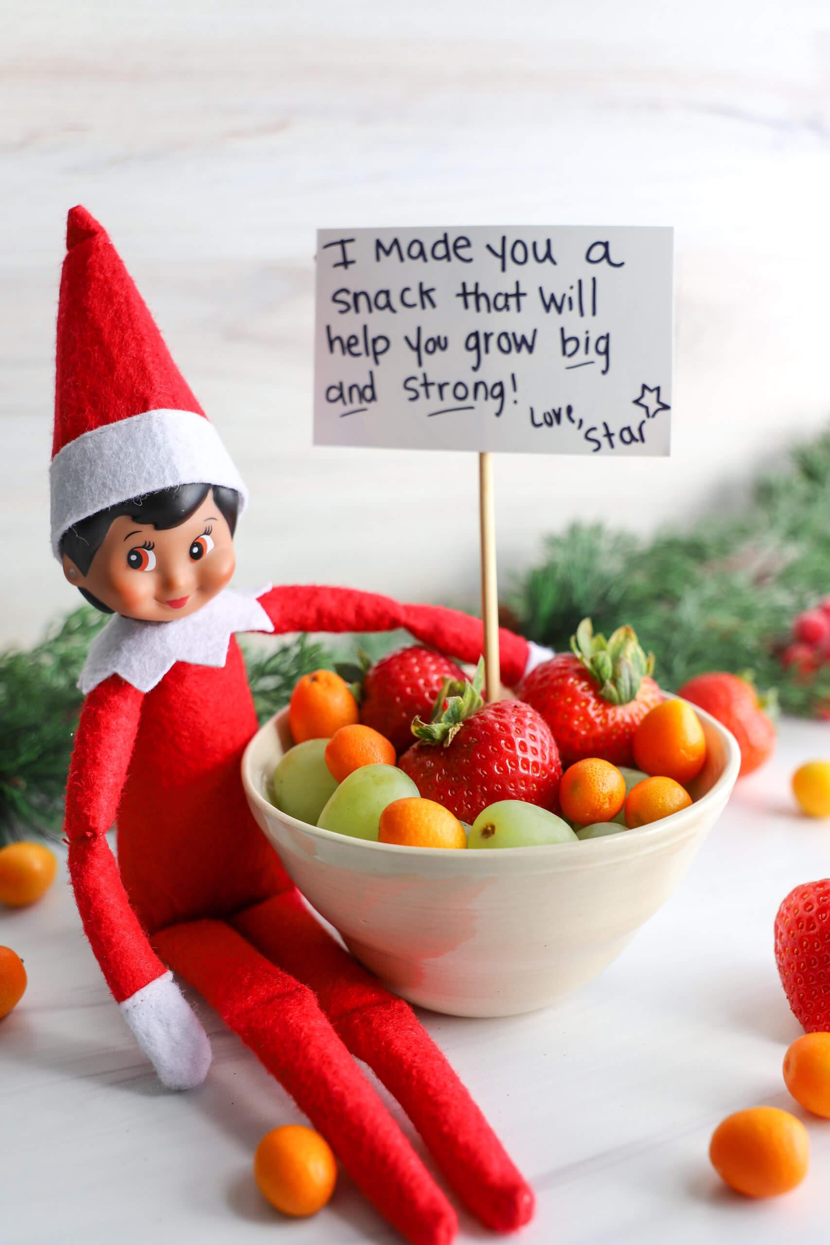Easy Elf on the Shelf Ideas: Making a Healthy Snack