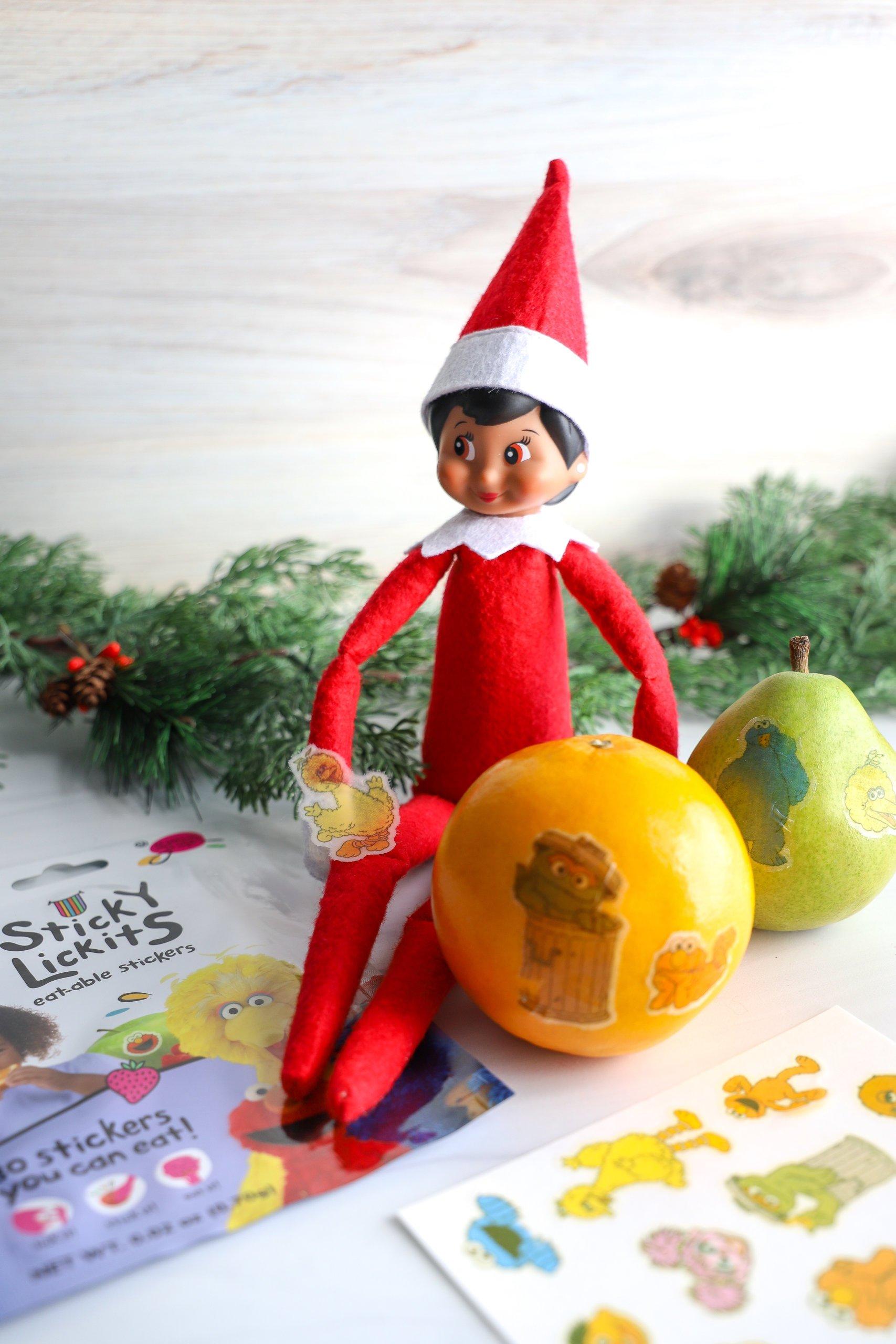 Easy Elf on the Shelf Ideas: Stickers of Fruit