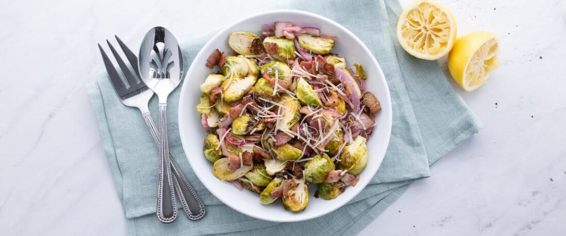 Air Fryer Brussels Sprouts Banner Image