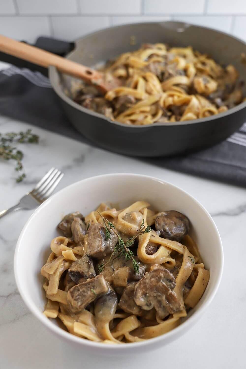 Classic Mushroom and Beef Stroganoff