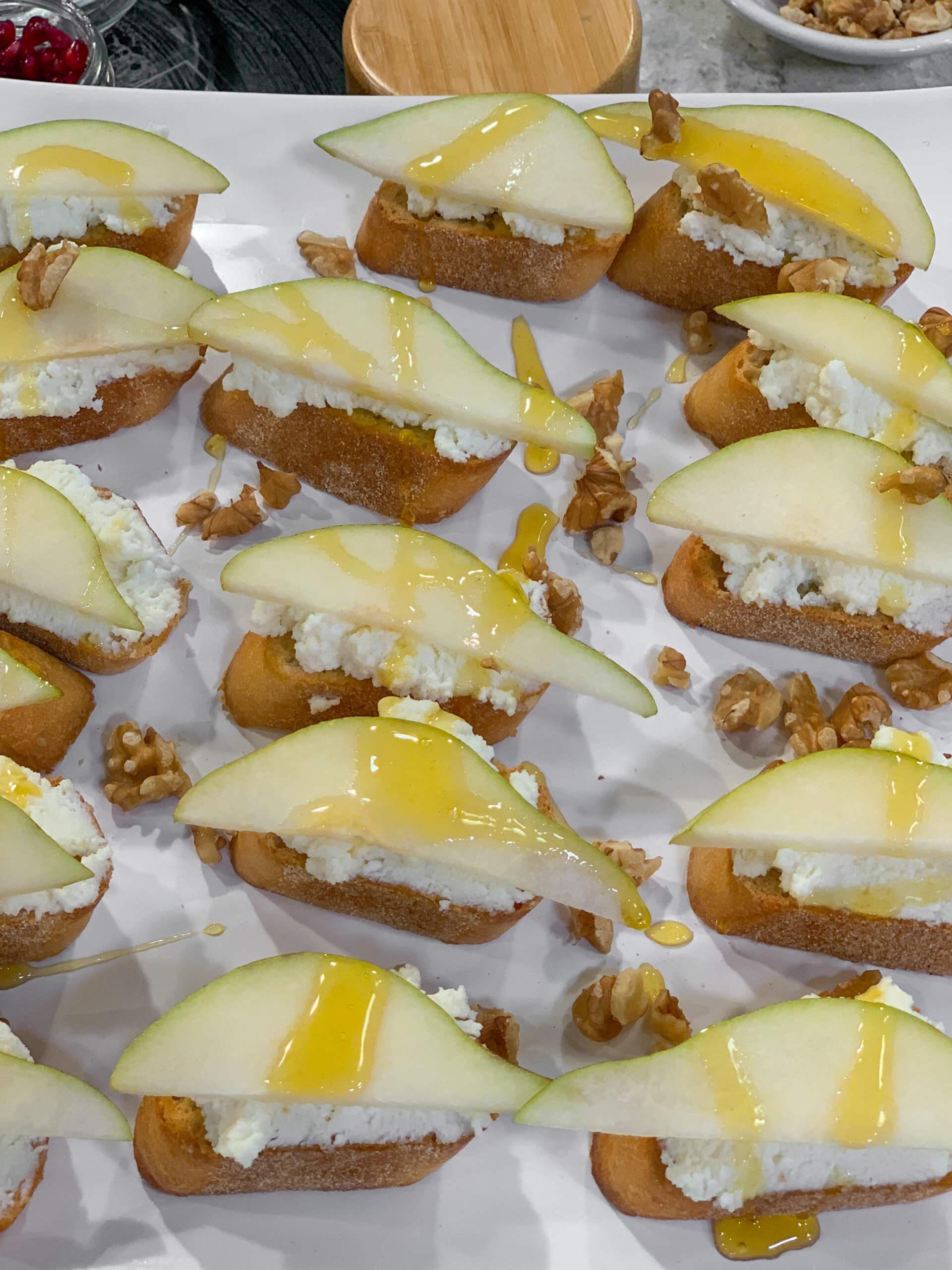Pear and Cheese Crostini