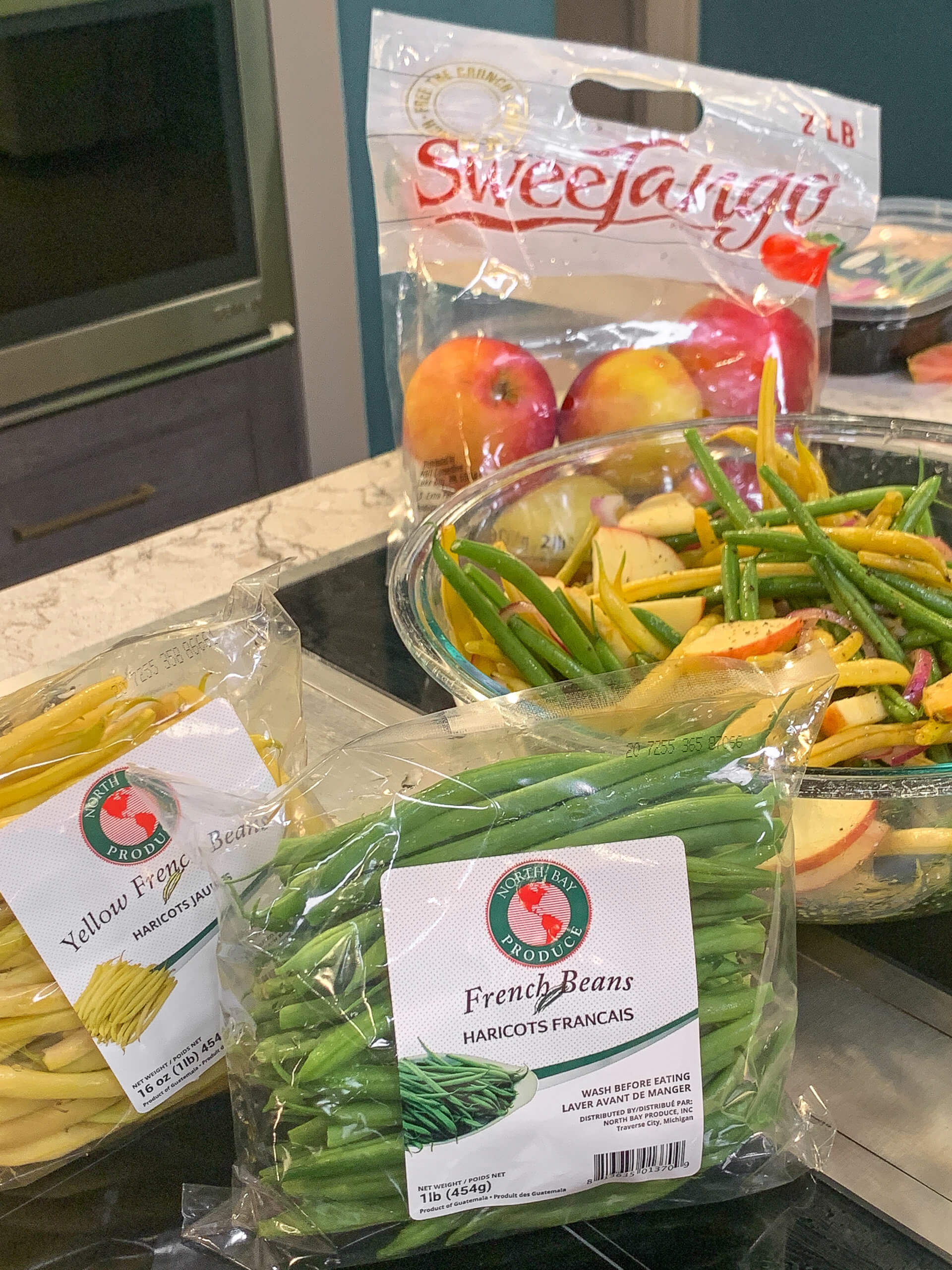 French Bean Salad with SweeTango Apples