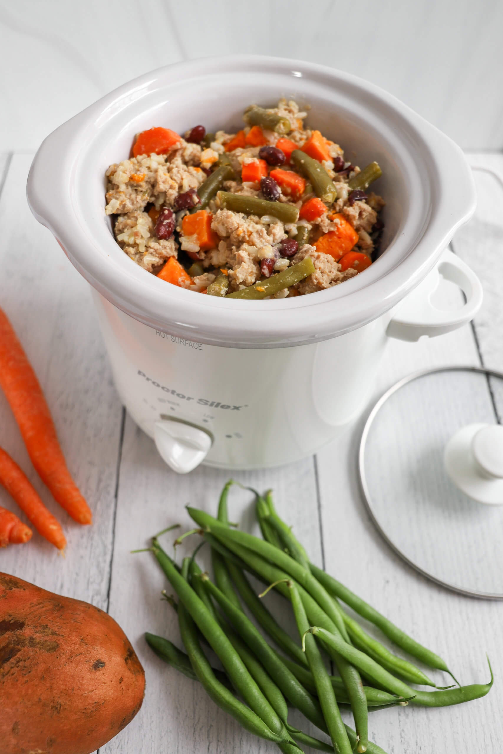 Slow Cooker Dog Food with Ground Turkey and Veggies