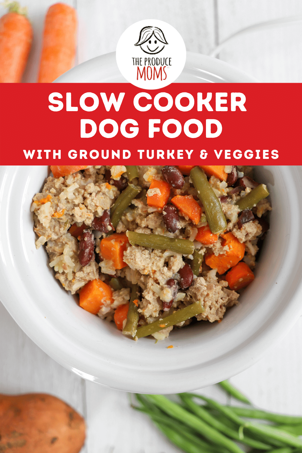 Easy Slow Cooker Dog Food With Ground Turkey And Veggies