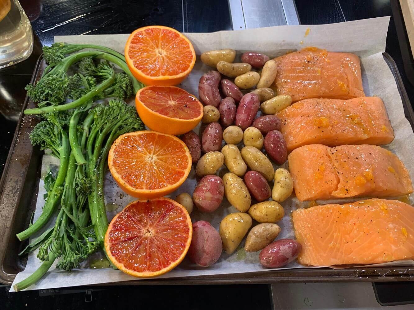 MandaRosa Salmon Sheet Pan Dinner