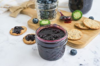 Jalapeno Blueberry Jam Featured Image