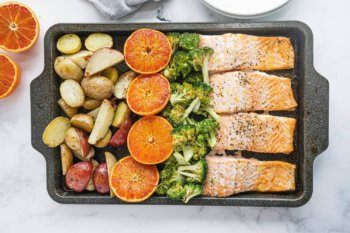 Sheet Pan Salmon Banner Image