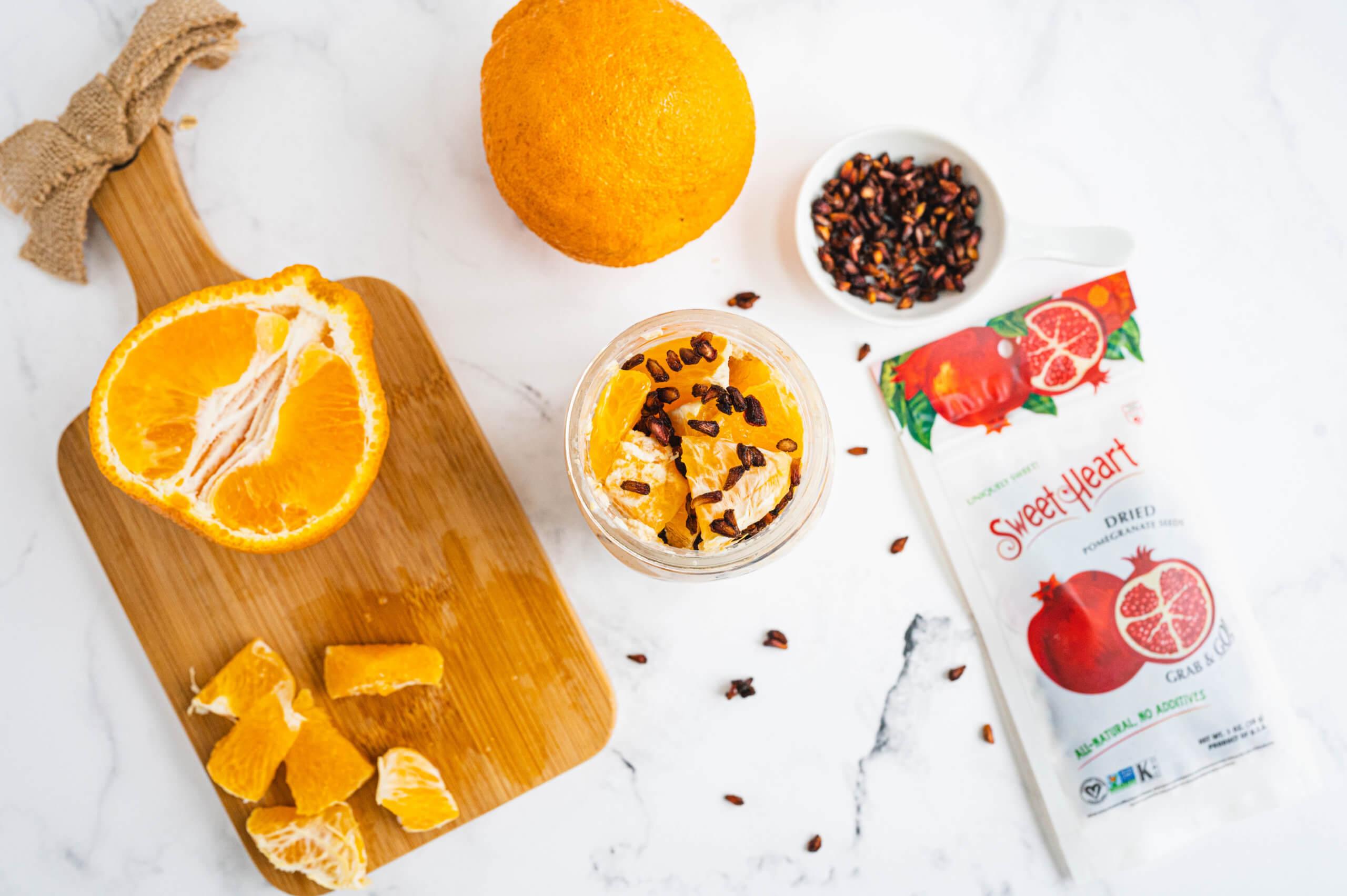 Mandarin and Pomegranate Overnight Oats