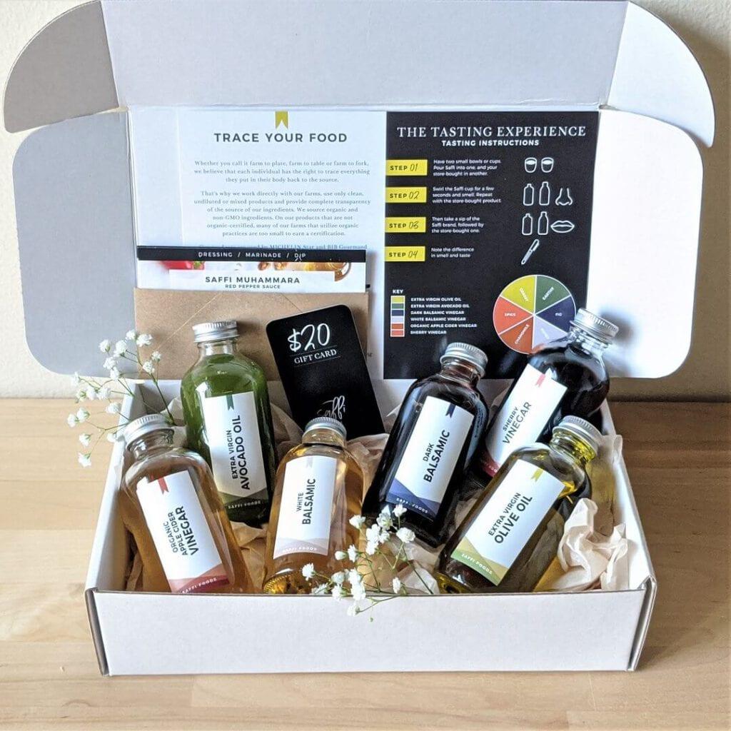 Saffi Foods Olive Oil and Vinegar Tasting Kit