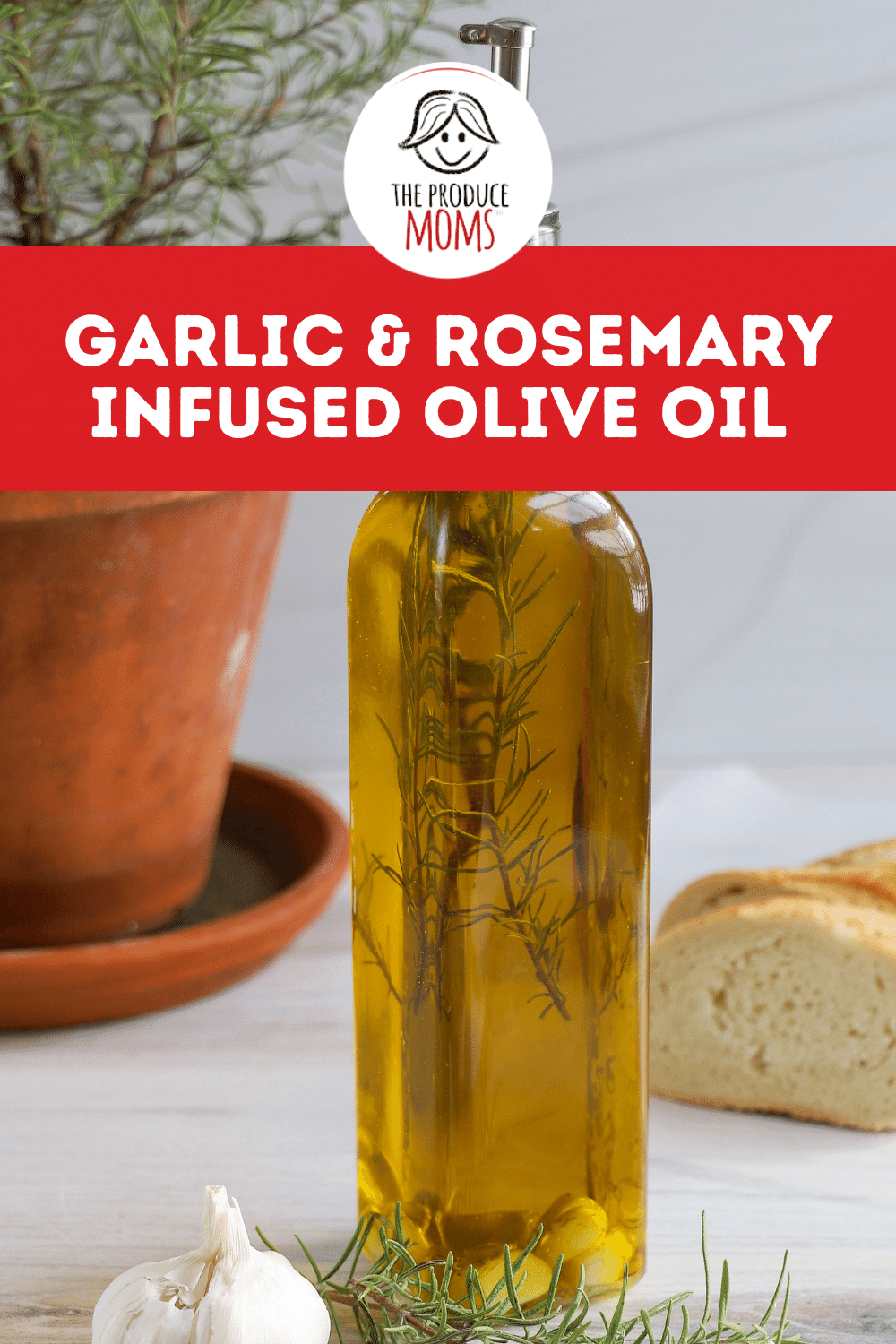 Garlic and Rosemary Infused Olive Oil