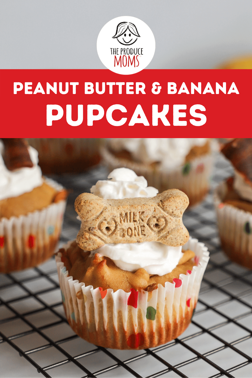 Peanut Butter and Banana Pupcakes