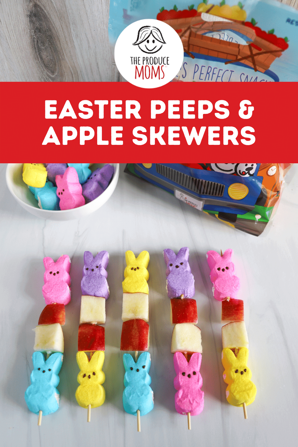 Easter Peeps and Apple Skewers Pin
