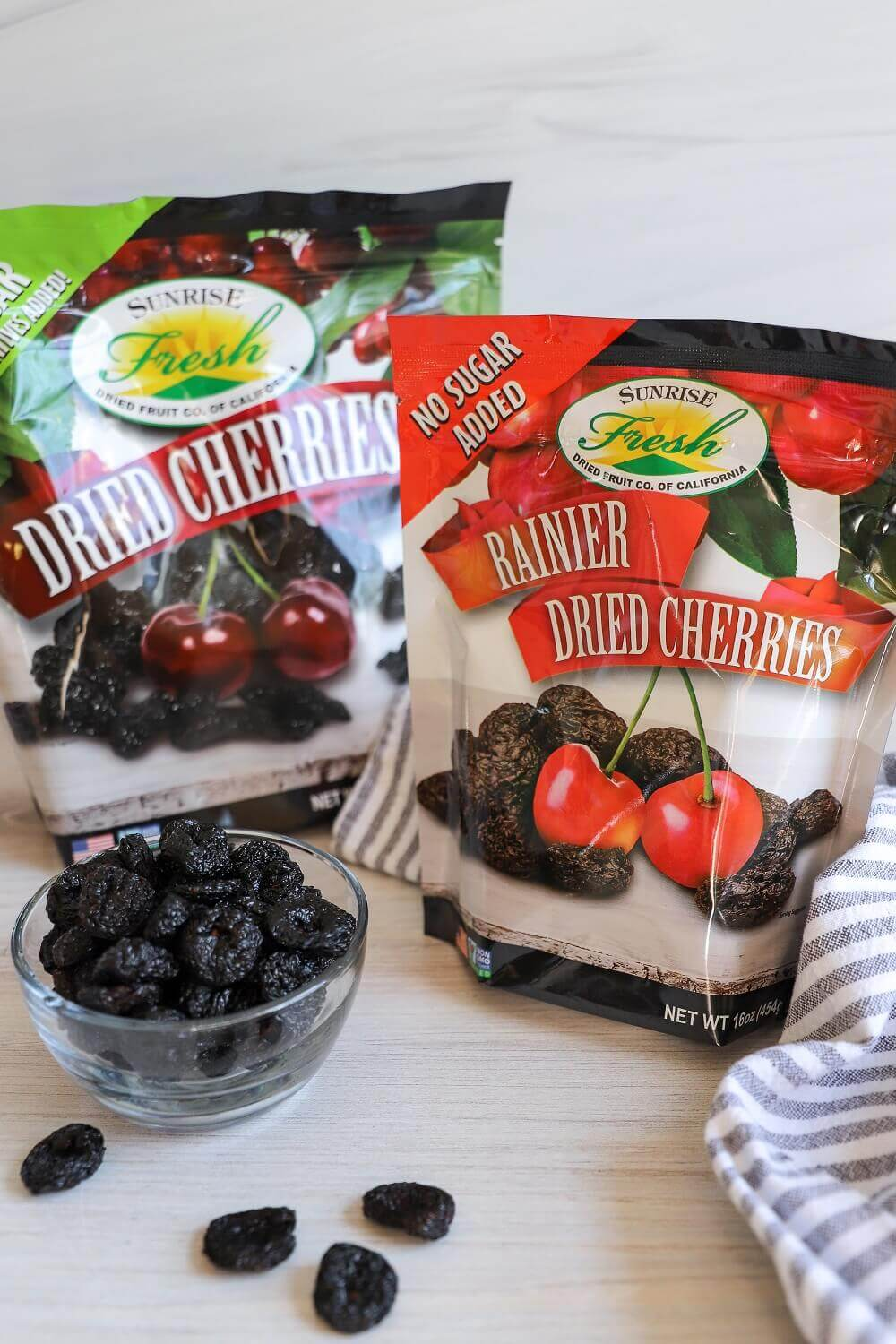 Delicious dried cherries