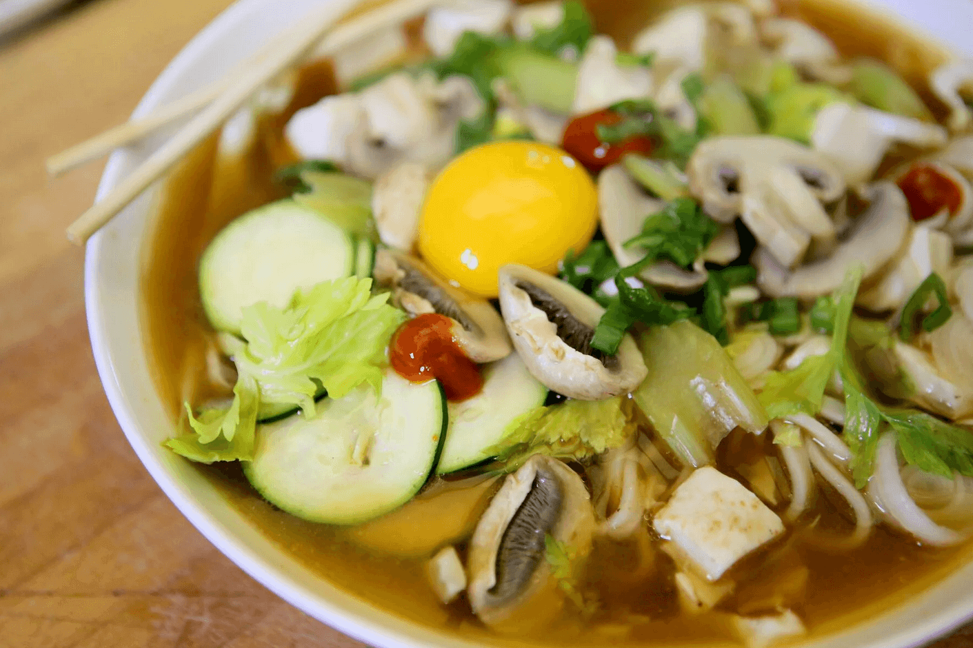 Celery and Miso Udon Soup